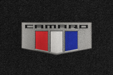 camaro logo custom fit floor mats